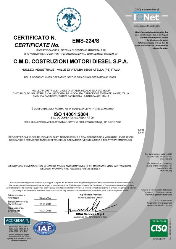 ISO-14001-2004-cmd-avio-aircraft-engines-motori-aerei-loncin-produzione-vendita-caserta-campania-made-in-italy