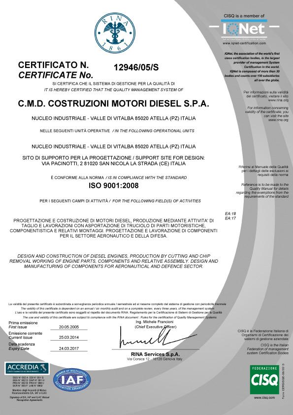 ISO-9001-2008-cmd-avio-aircraft-engines-motori-aerei-loncin-produzione-vendita-caserta-campania-made-in-italy