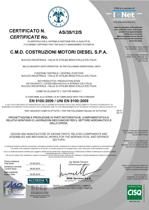 UNI-EN-9100-2009-cmd-avio-aircraft-engines-motori-aerei-loncin-produzione-vendita-caserta-campania-made-in-italy
